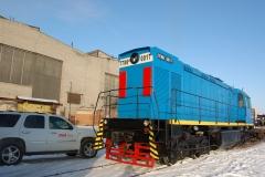 Тепловоз ТГМ-6Д, №0017, после ремонта